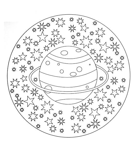 Free Coloring Page Freemandalatocolorplanetstars Free