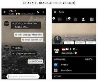 Download BBM CHAT ME - Black & White v3.3.6.51 Apk Mod Terbaru