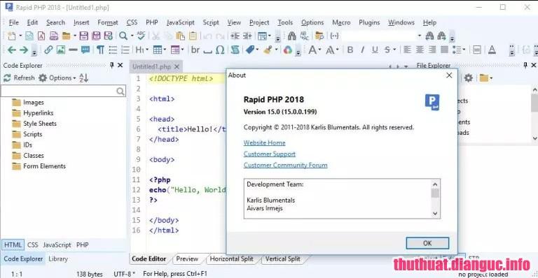 Download Blumentals Rapid PHP 2018 15.2.0.204 Full Cr@ck – Hỗ trợ lập trình chuyên nghiệp