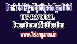 UPRVUNL (Uttar Pradesh Rajya Vidyut Utpadan Nigam Limited) Recruitment Notification 2016