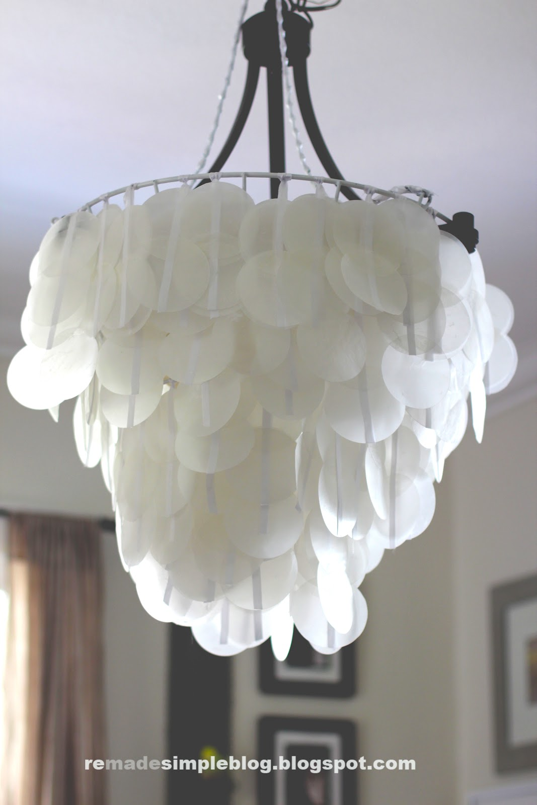ReMadeSimple: Faux Capiz Shell Chandeliers