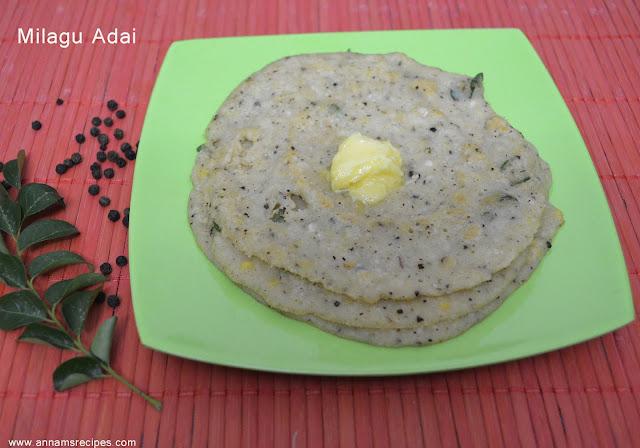 Milagu Adai / Karthigai Adai Recipe