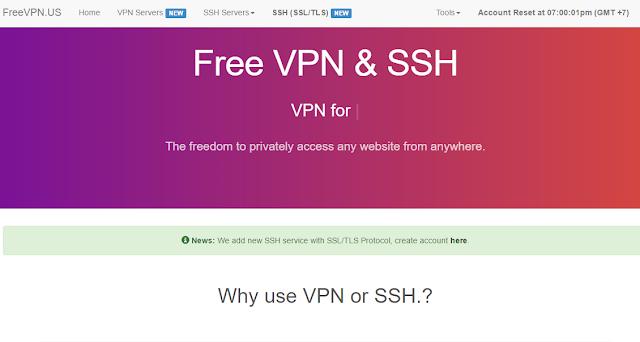 Siitus penyedia akun SSH yang support SSL dan TLS