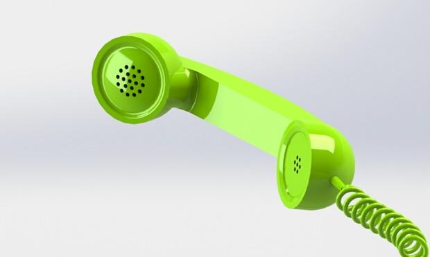 auricular verde modelado con solidworks