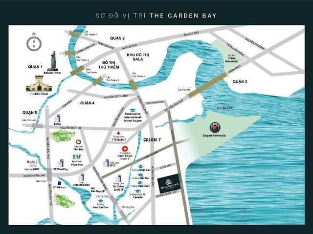 Vị trí đắc địa của căn hộ The Garden Bay