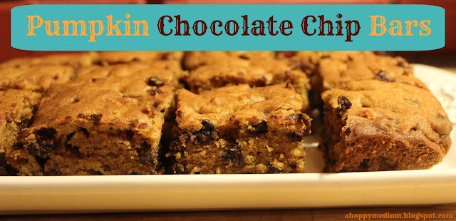 Pumpkin Chocolate Chip Bars | A Hoppy Medium
