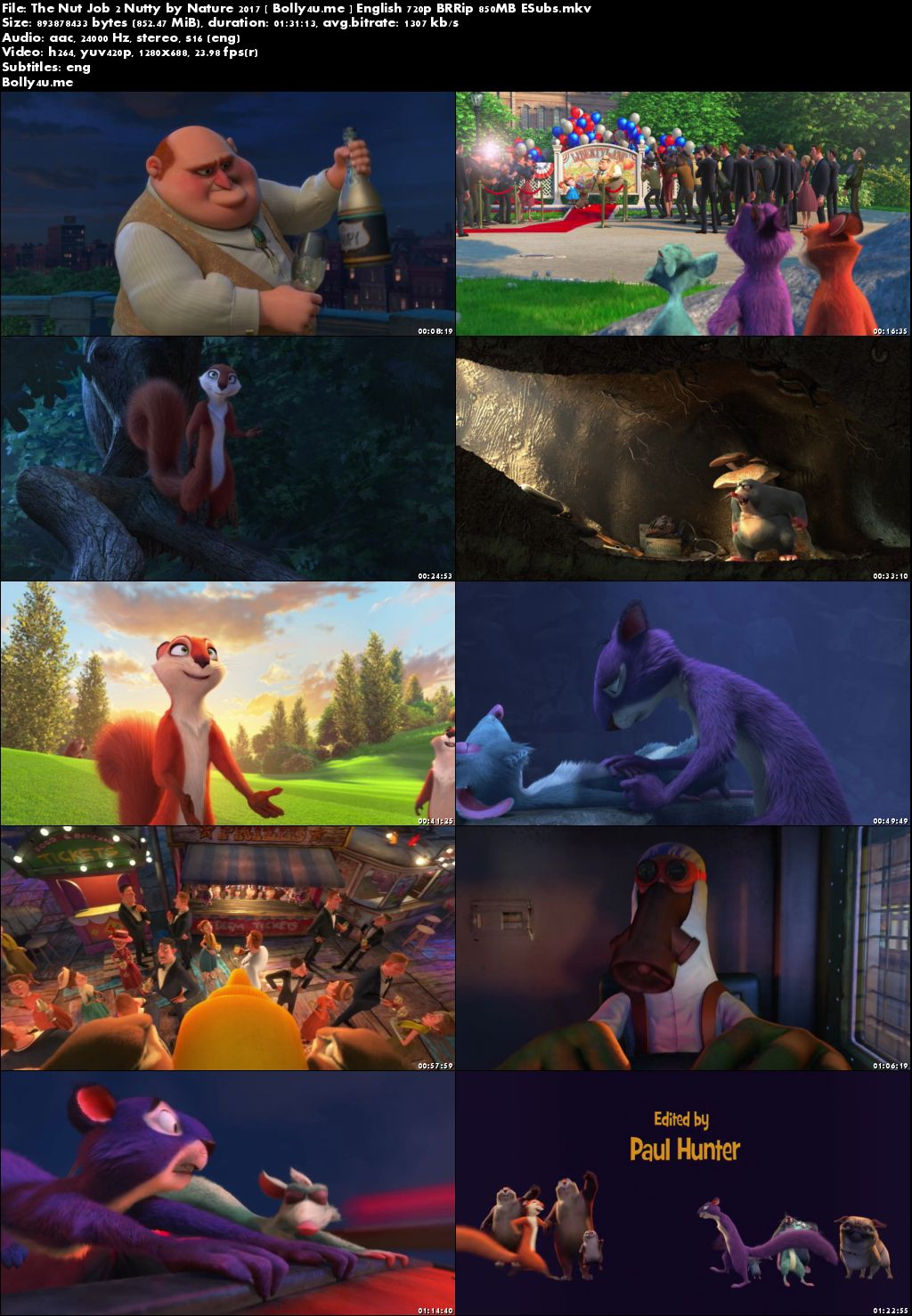 The Nut Job 2 Nutty By Nature 2017 BRRip 850MB English 720p ESubs Download