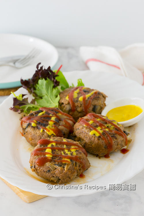 蘑菇牛肉餅 Mushroom and Beef Patties01