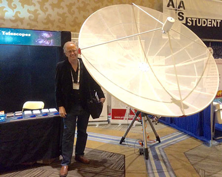 Resident Astronomer dreaming of a dish at the 2016 AAS San Diego meeting  (Source: Palmia Observatory)