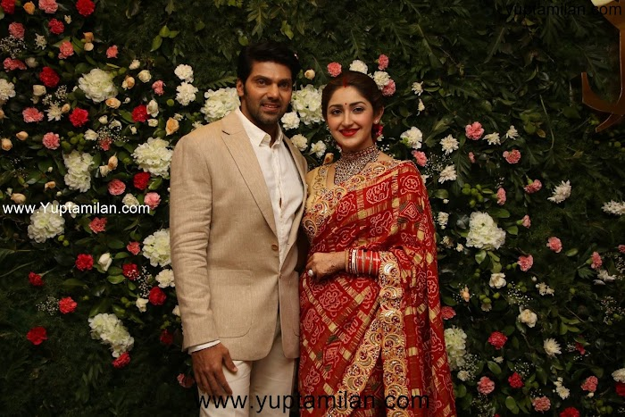 Arya & Sayeesha Saigal Marriage Reception Photos