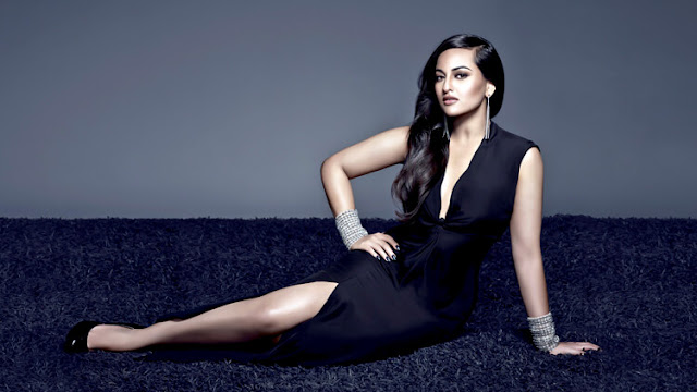 Sonakshi Sinha is looking sumptuously gorgeous in this white dress.