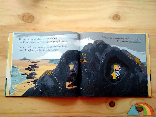 Interior del libro El pájaro de la abuela de Benji Davies