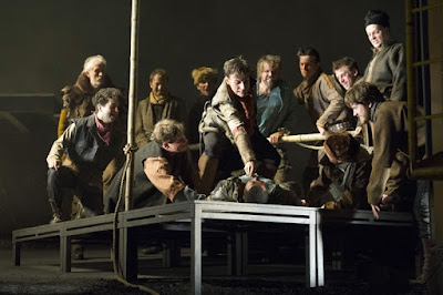 Grant Doyle, Colyn-Joh Gyeantey & male chorus - Gluck: Iphigenie en Tauride - English Touring Opera - photo Richard Hubert Smith