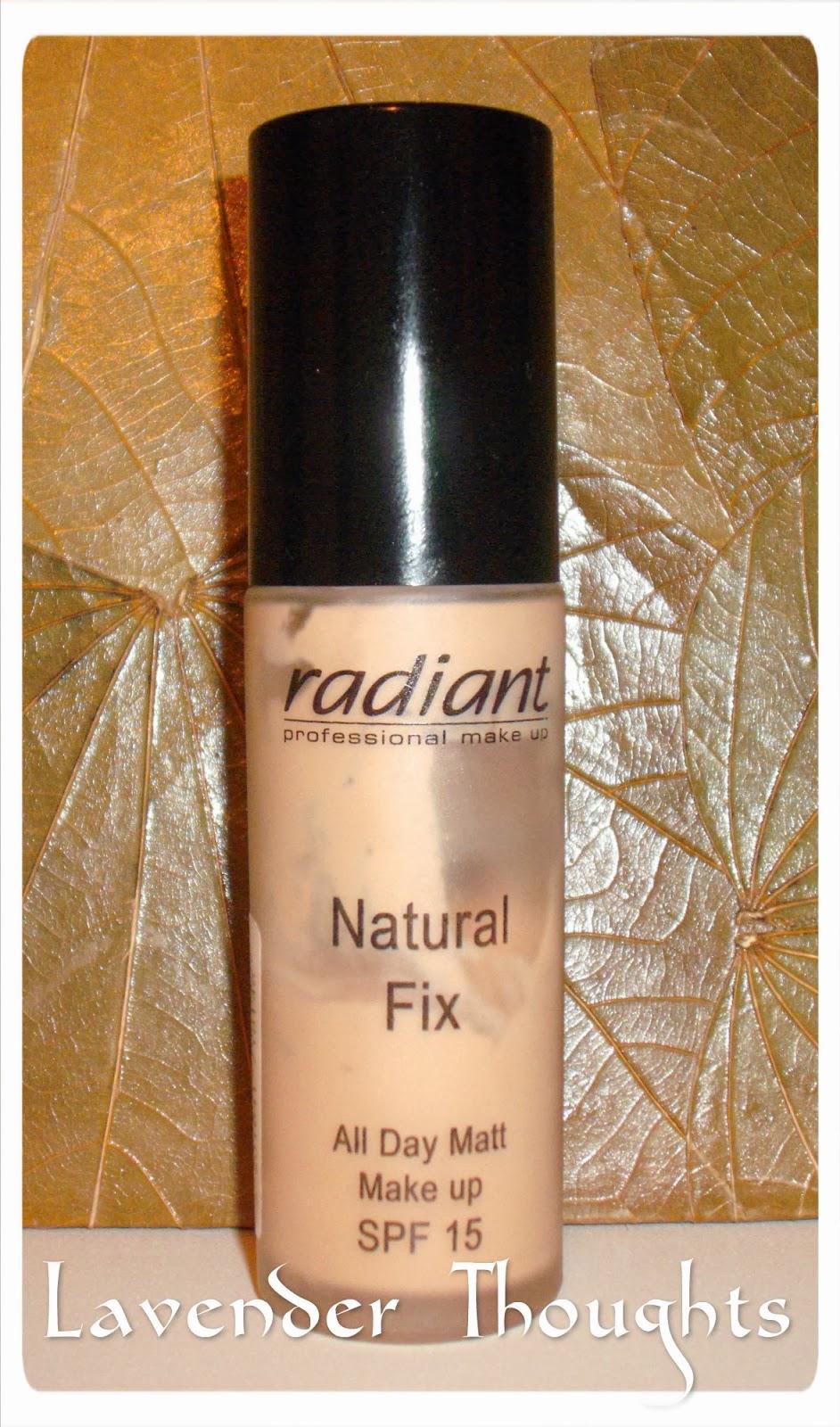 Natural Radiant Prom Makeup Tutorial: Lavender Thoughts: Review: Fond De Ten Natural Fix