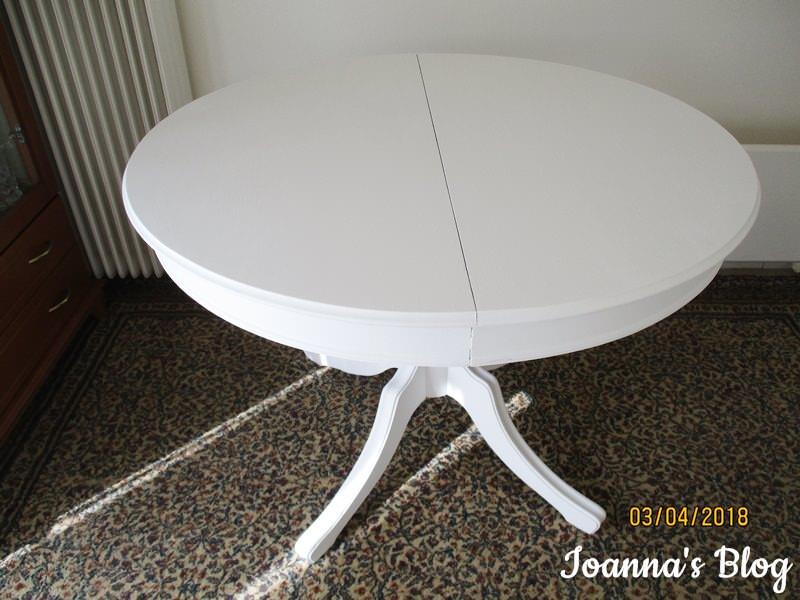 Μεταμόρφωση τραπεζαρίας με χρώμα κιμωλίας (chalk paint) - λευκό τραπέζι -
