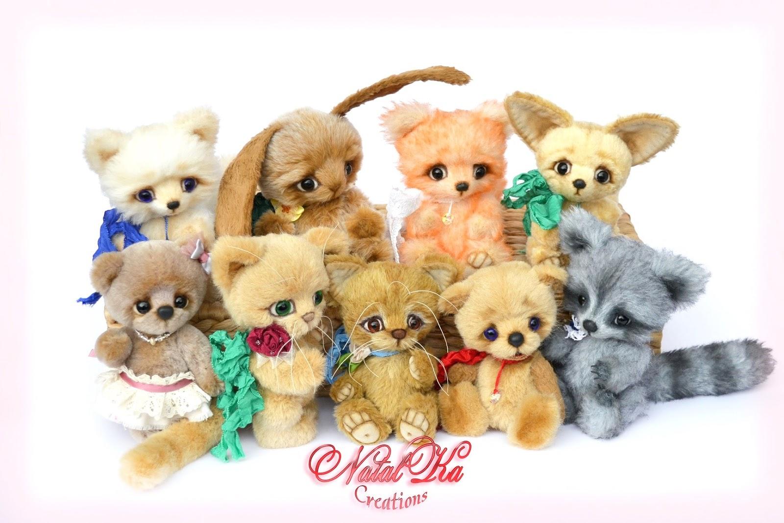 Artist teddy bears, artist bears, teddy bears,teddies with charm, ooak, mohair, handmade by NatalKa Creations. Künstlerbären, Künstlerteddys, Teddybären, Teddys, Unikate, handgemacht von NatalKa Creations.