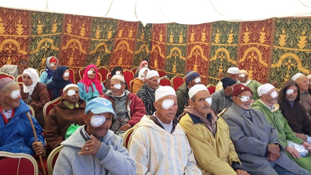 """استفادة 1069 شخصا من حملة طبية مجانية لازالة """"الجلالة"""" بالحوز"""