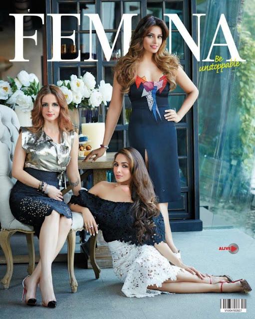 Bipasha, Malaika Arora, Sussanne Khan Femina Magazine June 2016 Pics