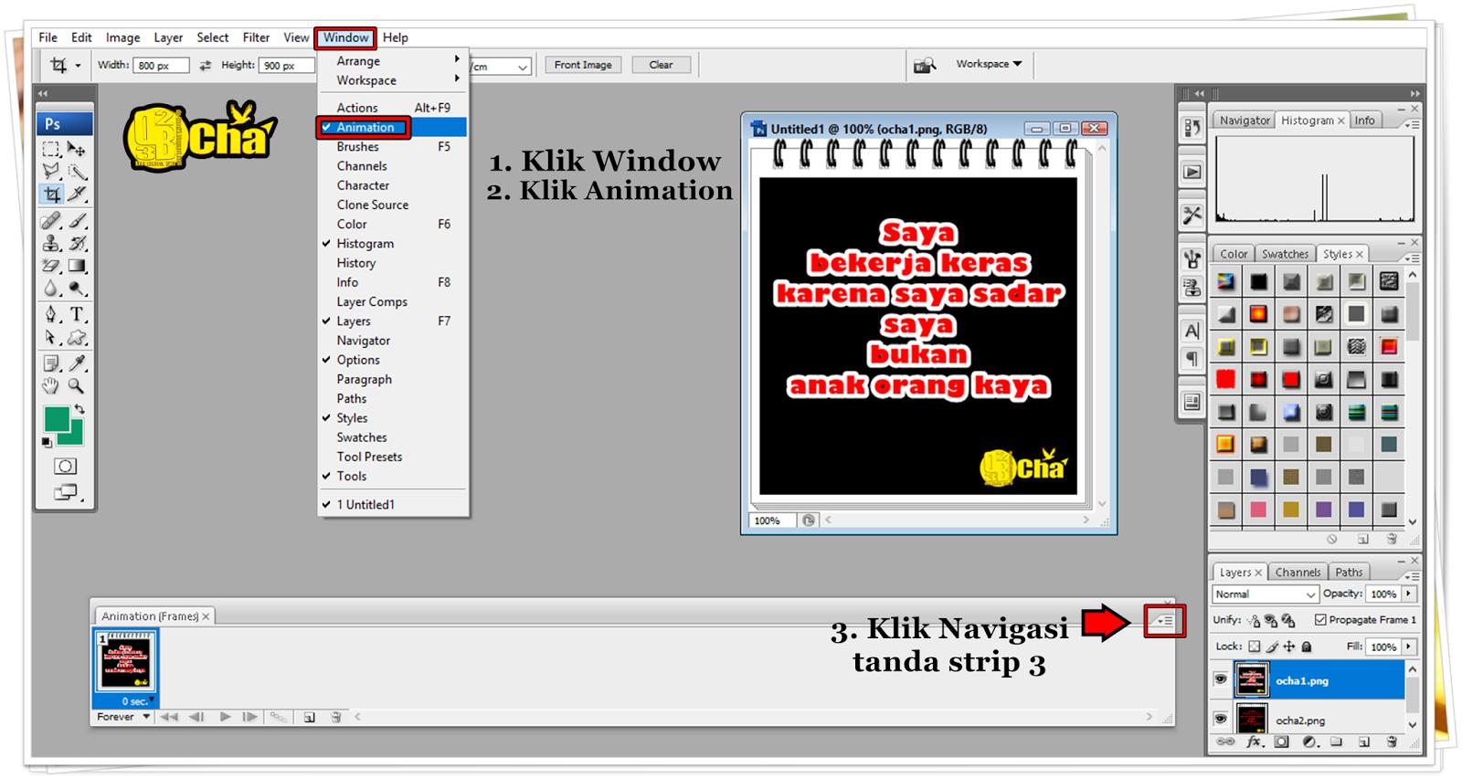 Cara Membuat Display Picture Atau DP BBM Animasi Dengan Photoshop