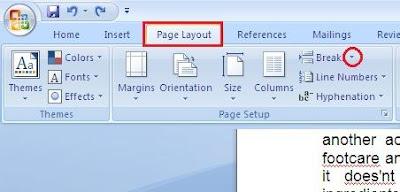 untuk banyak sekali keperluan memang telah menjadi kebiasaan sebagian besar pengguna komputer Cara Membuat Section Break Halaman di Ms Word 2007
