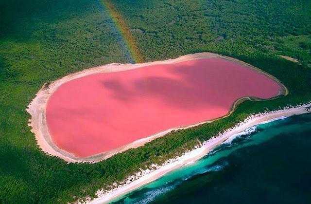 Tasik Berwarna Merah Jambu Yang Menakjubkan di Kepulauan Recherche