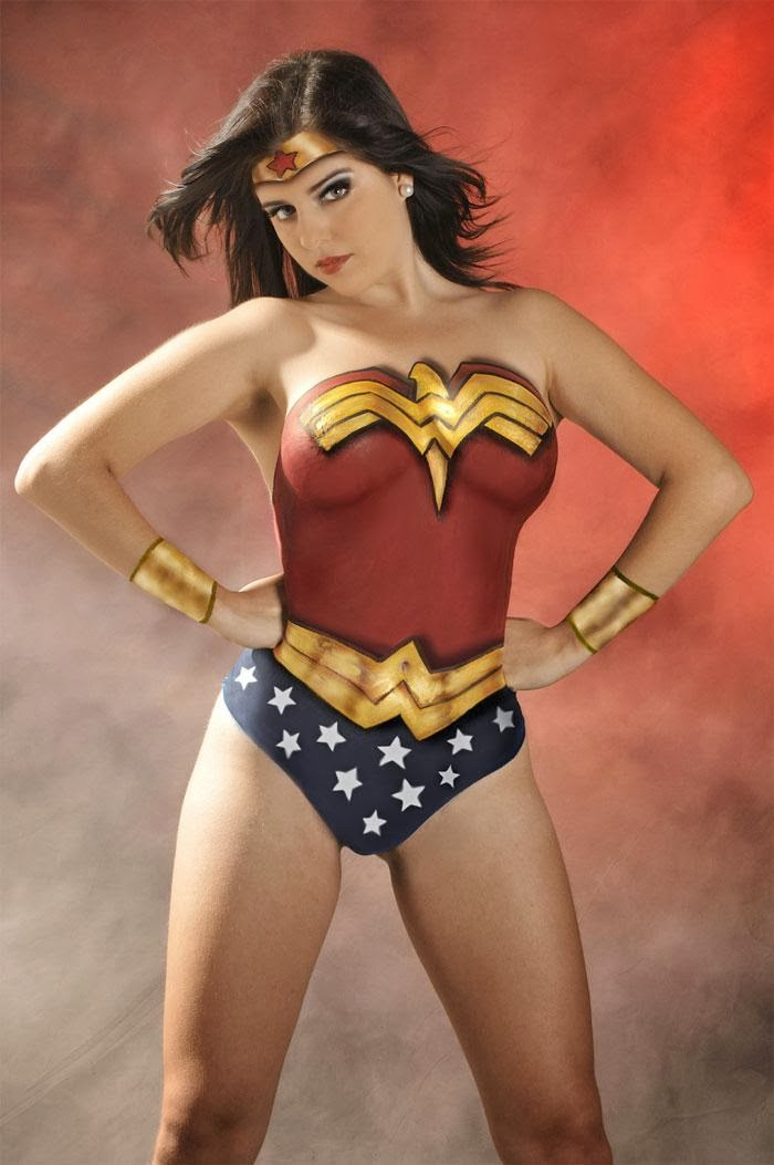 Body Painting sexy cosplay - Wonder Woman