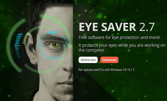 تحميل برنامج EYE SAVER 2.7 لحماية العين من الأشعة الصادرة من سطح مكتب الكمبيوتر