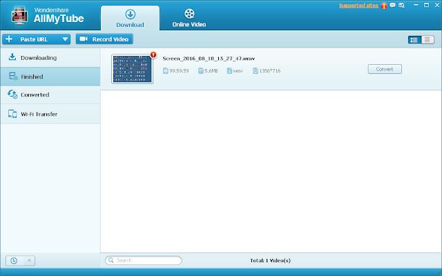 تحميل وتثبيت وشرح برنامج  Wondershare AllMyTube
