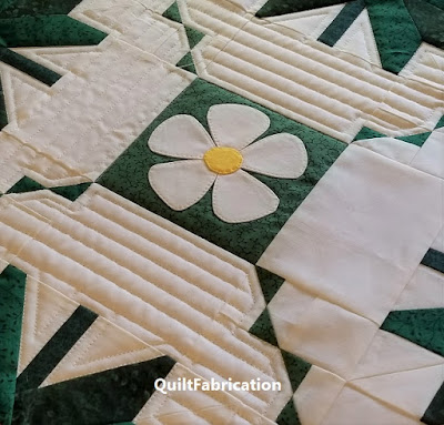 quilting in progress on new spring project