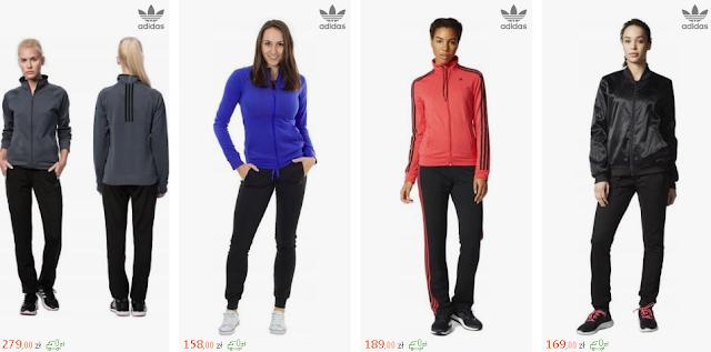 Klasyczne damskie dresy do biegania marki Adidas