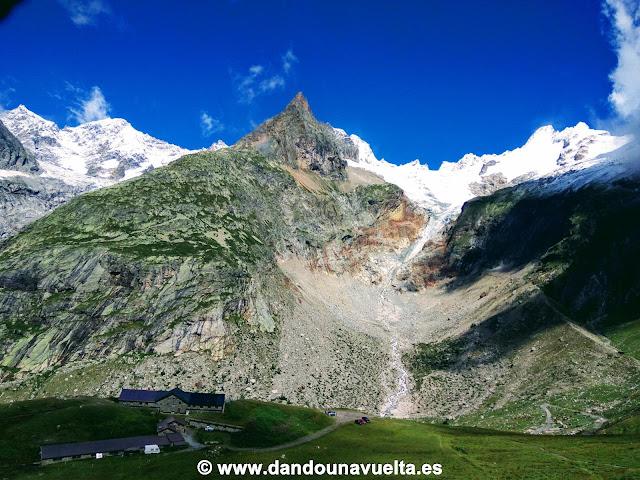 Refugio Elena, en el Tour del Mont Blanc