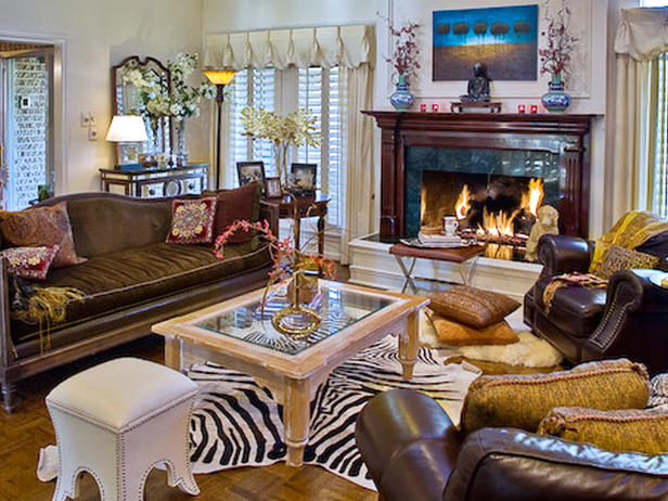 Animal print decorations for living room interior design - Animal print living room decorating ideas ...
