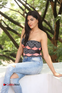 Actress Sakshi Chowdary Pictures in Ripped Jeans at Selfie Raja Interview  0089.JPG