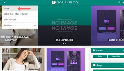 Cara mengubah dan menghapus menu navigasi blogger