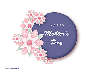 """Happy mother day"" message on cards Image flowers"