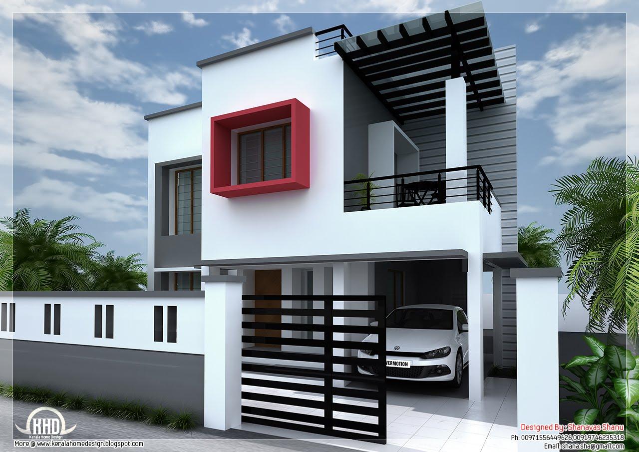 1800 Sq Feet Modern Contemporary Villa Kerala Home