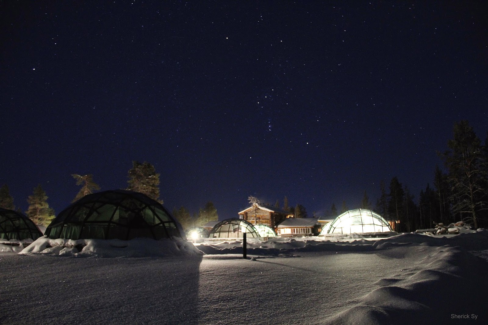 Night, Glass Igloo, Kakslauttanen, Finland