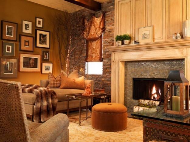 Hermosas fotos de salas rsticas  Ideas para decorar disear y mejorar tu casa