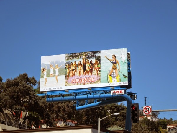 Model Turned Superstar billboard Sunset Strip