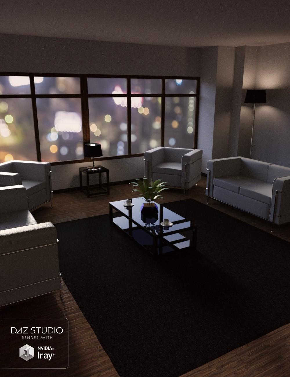 Download daz studio 3 for free daz 3d sleek interior room for Living room 2 for daz studio