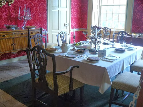 18th century Dining Room at Schuyler Mansion
