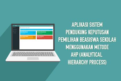 Aplikasi Sistem Pendukung Keputusan Pemilihan Beasiswa Sekolah Menggunakan Metode AHP (Analytical Hierarchy Process)