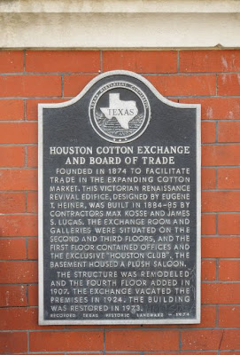 Image of Texas Historical Marker: Houston Cotton Exchange and Board of Trade