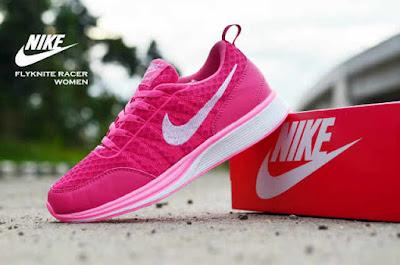 Sepatu Nike Free Flyknit Women Pink White