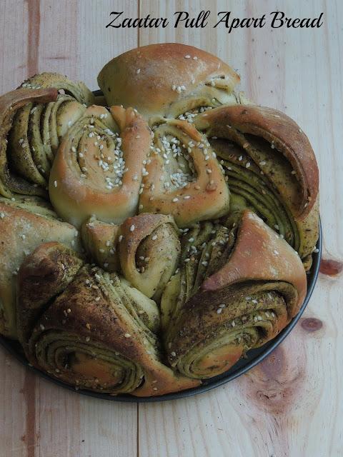Zaatar Pull Apart Bread, Zaatar bread