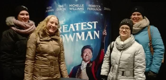 the greatest showman elokuvateatterissa
