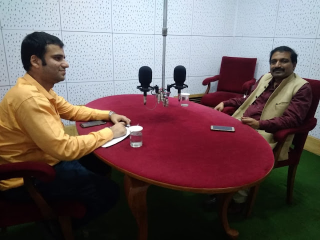 Film critic Murtaza Ali Khan with DG, IIMC, Sh K G Suresh on All India Radio