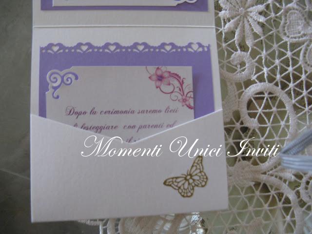 IMG_4519 Partecipazione pocket in lilla con brillantini e stickersColore Lilla Partecipazioni Pocket