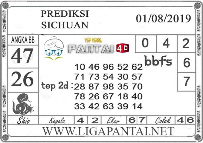 "PREDIKSI TOGEL ""SICHUAN"" PANTAI4D 01 AGUSTUS 2019"
