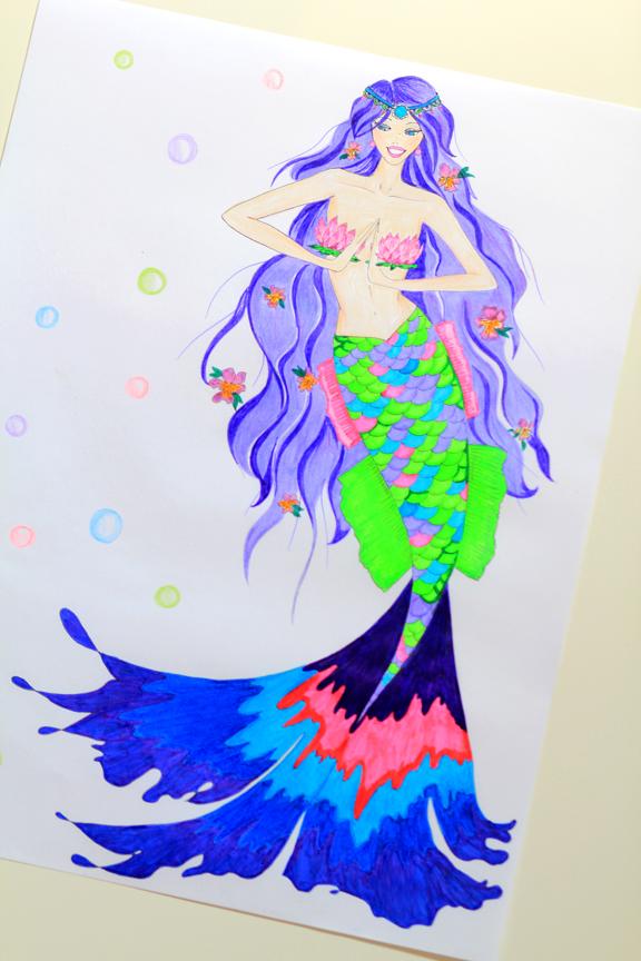 Mermaid Zodiac Illustration Series